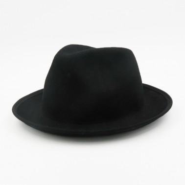 Porkpie noir Lior kanopi le chapeau francais