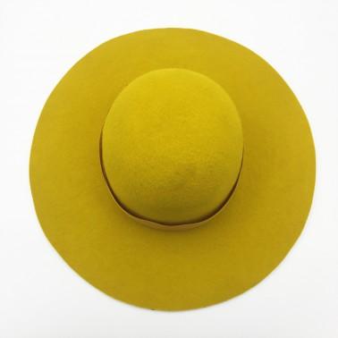 capeline moutarde chapeau français