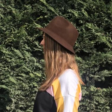 petit indiana gris chiné le chapeau francais