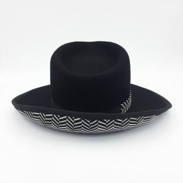 Borsalino Noir duo poncho kanopi le chapeau francais
