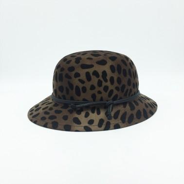 Manon léopard kanopi chapeau francais