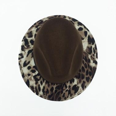 Petit indiana léopard kanopi le chapeau francais