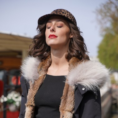 Mila Leopard Cap kanopi the french hat since 1904