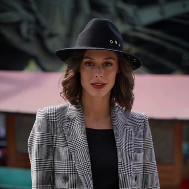 Indiana noir rivet kanopi le chapeau francais