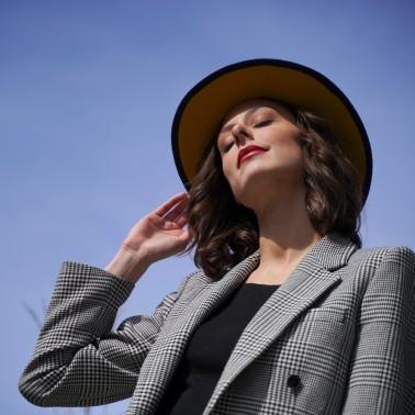 Indiana marine doublé moutarde kanopi le chapeau francais