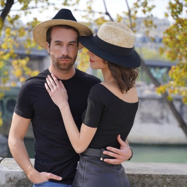 Indiana felt and straw kanopi french hat