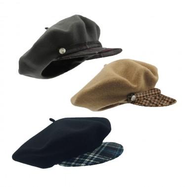 Béret Casquette Tartan kanopi le chapeau francais