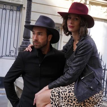 Borsalino flat edge kanopi the french hat