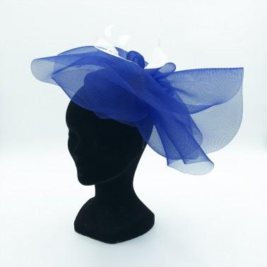 symphonie bleu royal kanopi chapeau français cérémonie