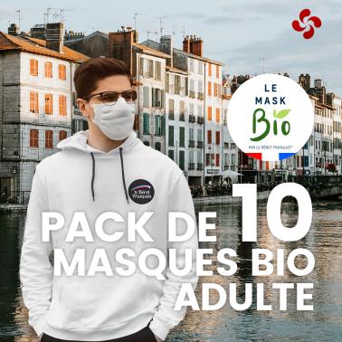 Le Mask bio Adultes - Pack de 10