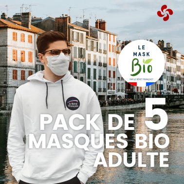 Le Mask bio Adultes - Pack de 5