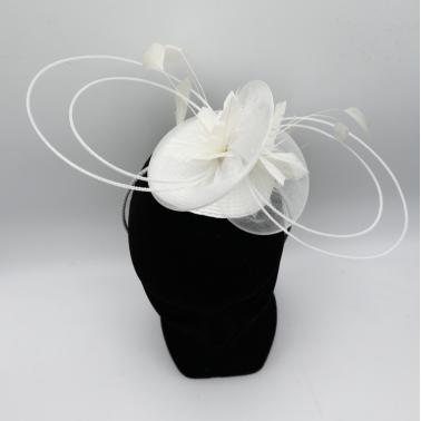 Saint Malo Blanc Kanopi le chapeau français chapeau de mariage
