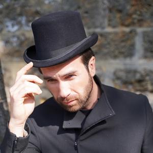 chapeau haut de forme noir homme